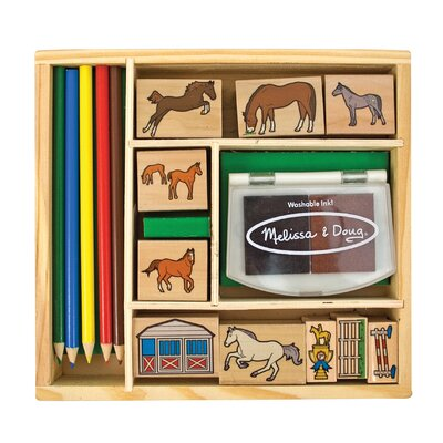 Melissa and Doug Horses Stamp Set Arts & Crafts Kit