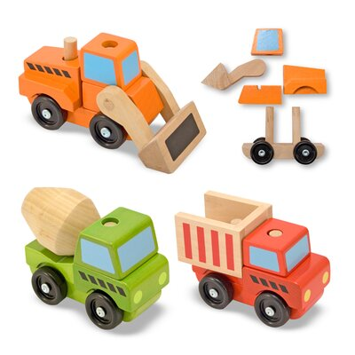 Melissa and Doug Stacking Construction Vehicle Set