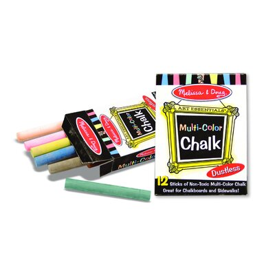 Melissa and Doug Multi-Colored Chalk (12 pc)