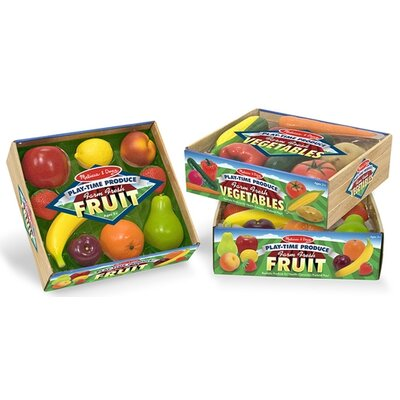 Melissa and Doug 8 Piece Play-Time Fruit Set