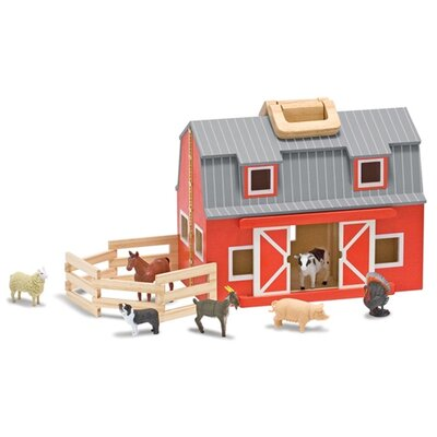 Melissa and Doug Fold and Go Mini Barn