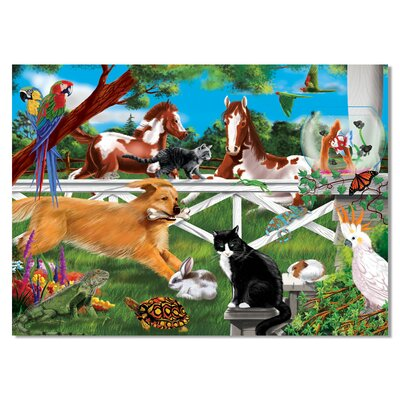 Melissa and Doug Playful Pets Cardboard Jigsaw Puzzle