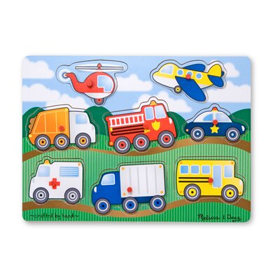Melissa and Doug Vehicles Peg Puzzle