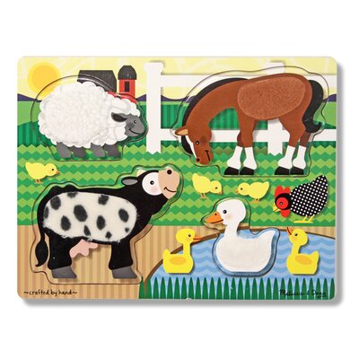 Melissa and Doug Farm Touch and Feel Puzzle