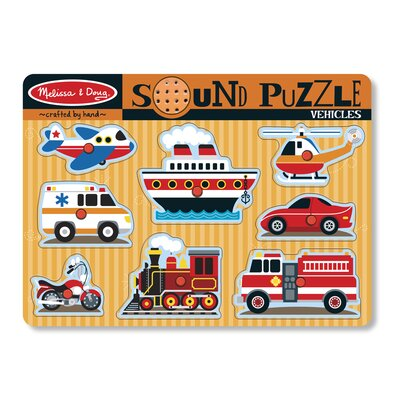 Melissa and Doug Vehicles Sound Puzzle