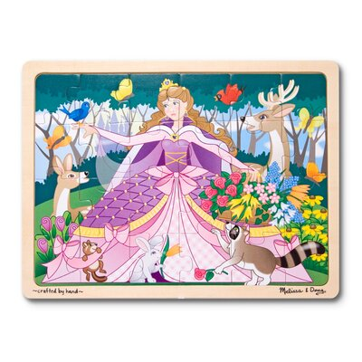 Melissa and Doug 24-pieces Woodland Princess Jigsaw Puzzle Set