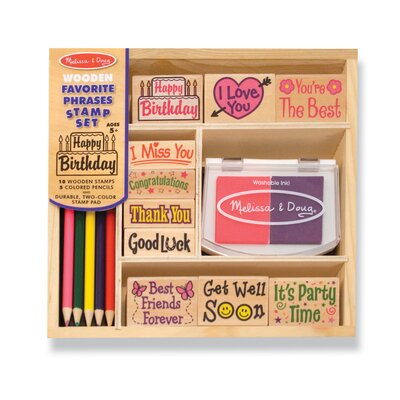 Melissa and Doug Favorite Phrases Stamp Set