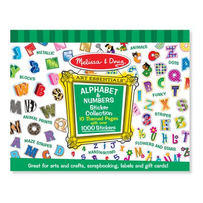 Melissa and Doug Sticker Collection Alphabet and Numbers