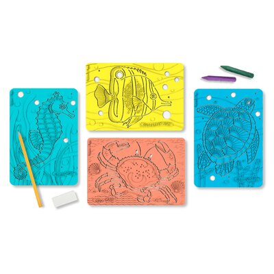 Melissa and Doug Textured Stencils Sea Life