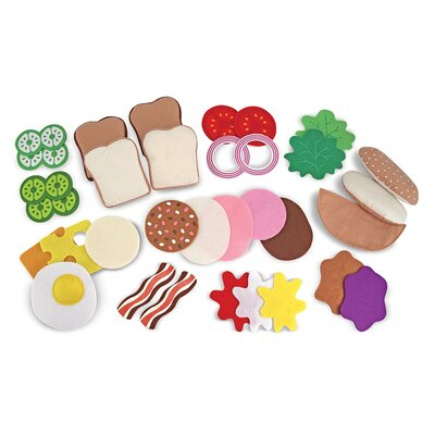 Melissa and Doug 33-Piece Felt Food Sandwich Set