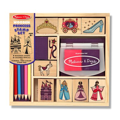 Melissa and Doug Wooden Princess Stamp Set