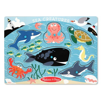 Melissa and Doug Sea Creatures Peg Puzzle