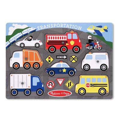 Melissa and Doug Transportation Peg Puzzle