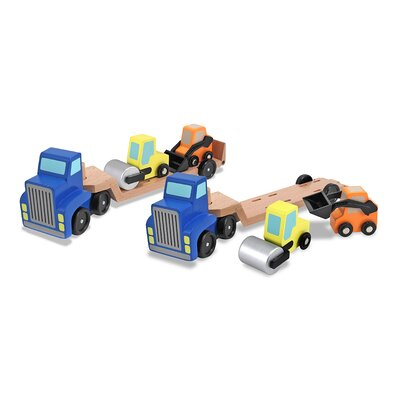 Melissa and Doug Low Loader Truck Vehicle Set