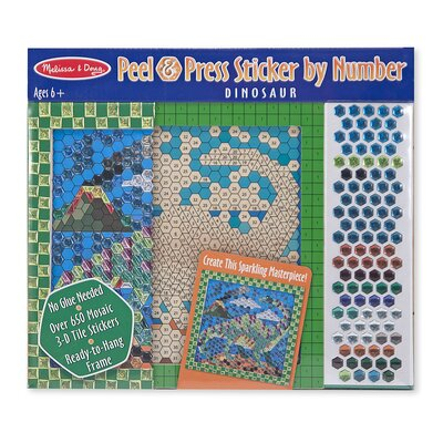 Melissa and Doug Dinosaur Peel and Press Sticker by Number