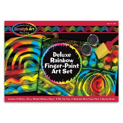 Melissa and Doug Deluxe Rainbow Finger-Paint Art Set