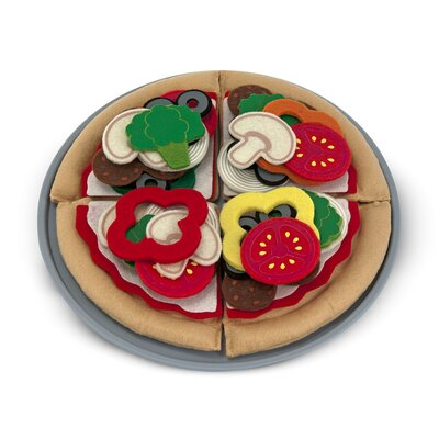 Melissa and Doug 40 Piece Felt Food Pizza Set