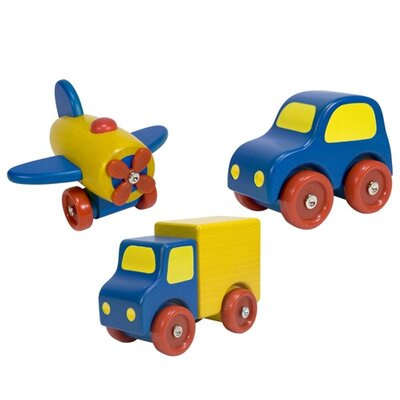 Melissa and Doug First Vehicle Wooden Toy Vehicle Set