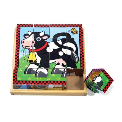 Melissa and Doug Farm Cube Wooden Puzzle