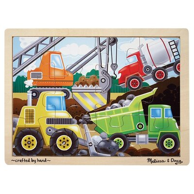 Melissa and Doug Construction Site Wooden Jigsaw Puzzle