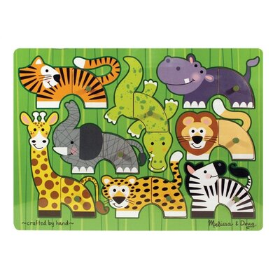 Melissa and Doug Zoo Mix N' Match Wooden Peg Puzzle