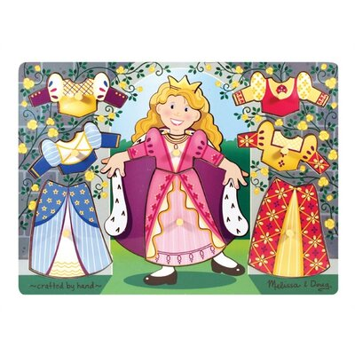 Melissa and Doug Princess Dress-Up Mix N' Match Peg Puzzle
