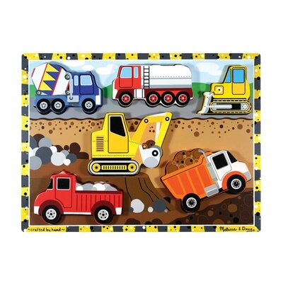 Melissa and Doug Construction Chunky Wooden Puzzle