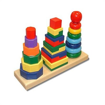 Melissa and Doug Geometric Stacker Toy