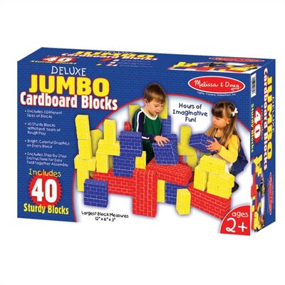 Melissa and Doug 40-pc Jumbo Cardboard Building Blocks