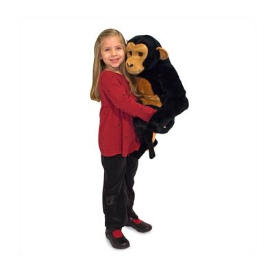 Melissa and Doug Chimpanzee Plush Stuffed Animal