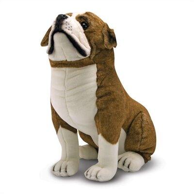 Melissa and Doug English Bulldog Plush Stuffed Animal