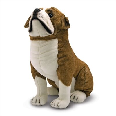 Melissa and Doug English Bulldog Plush Stuffed Animal