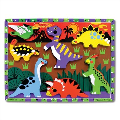 Melissa and Doug Dinosaurs Chunky Wooden Puzzle