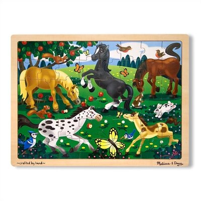 Melissa and Doug Frolicking Horses Wooden Jigsaw Puzzle