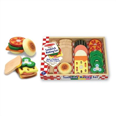 Melissa and Doug Play Food Sandwich Making Set