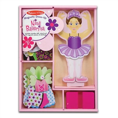 Melissa and Doug Nina Ballerina Magnetic Dress-Up Set