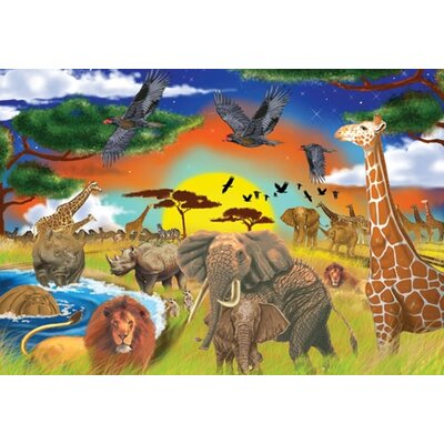 Melissa and Doug Safari Adventure Cardboard Jigsaw Puzzle
