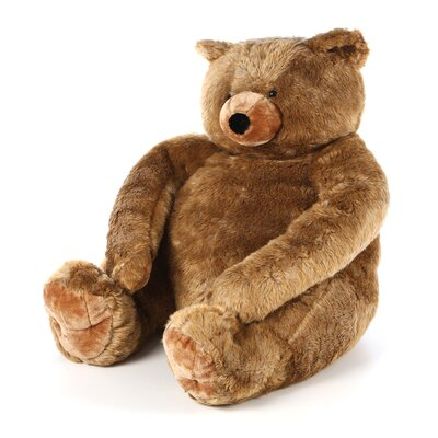 Melissa and Doug Jumbo Brown Teddy Bear Plush Stuffed Animal