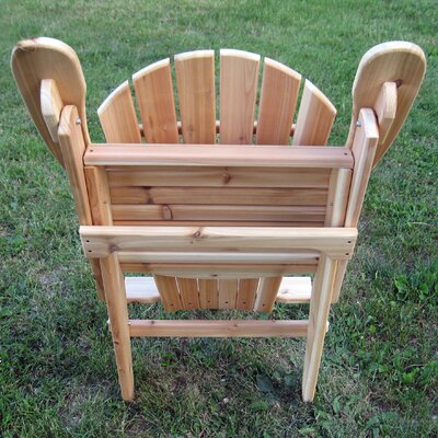 Buyers Choice Phat Tommy Folding Wide Cedar Adirondack Chair