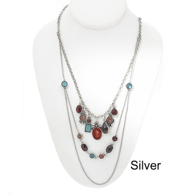 Artisans International Silver Triple Necklace
