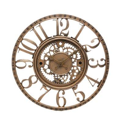 Infinity instruments 155quot open dial gear wall clock for Open gear wall clock