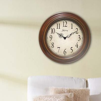 Infinity Instruments Atheneum Wall Clock in Antique Walnut