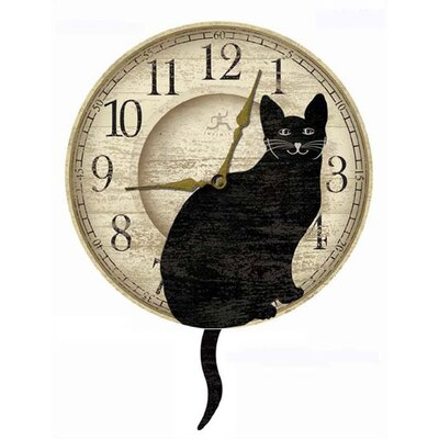 Infinity Instruments Cat Pendulum Wall Clock
