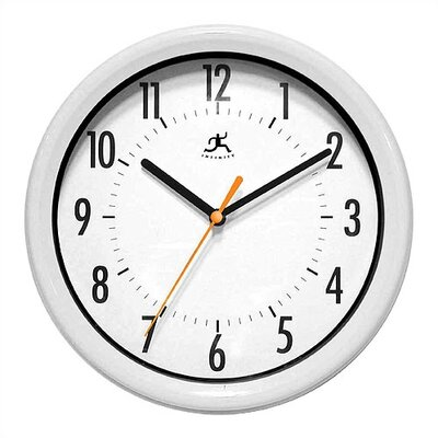 Infinity Instruments Facile Wall Clock in White