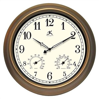 Infinity Instruments The Craftsman Outdoor Wall Clock with Weather Station