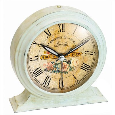 Infinity Instruments Boutique De Fleur Metal Alarm Clock