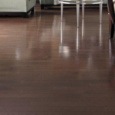 """Somerset Floors Color Strip 3-1/4"""" Solid White Oak Flooring in Metro Brown"""