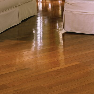 "Somerset Floors Color Strip 3-1/4"" Solid White Oak Flooring in Gunstock"