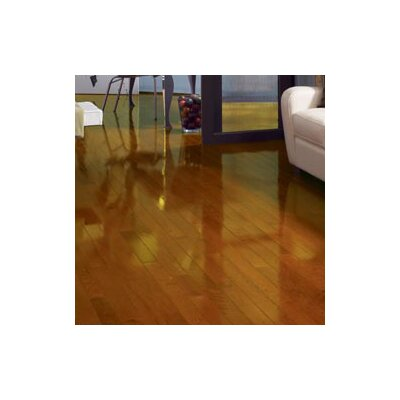 "Somerset Floors Color Strip 2-1/4"" Solid Red Oak Flooring in Butterscotch High Gloss"