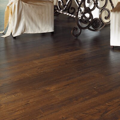 "Somerset Floors American Country 4"" Engineered White Oak Flooring in Royal Brown"
